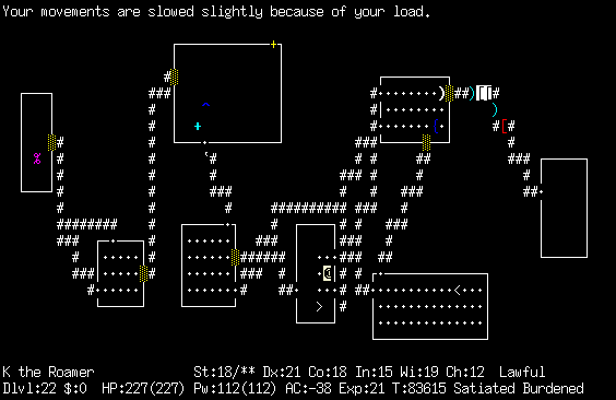 [Snapshot of NetHack]